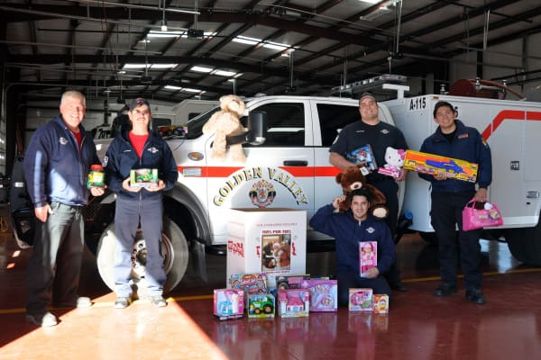 GVFD Toys For Tots Donation