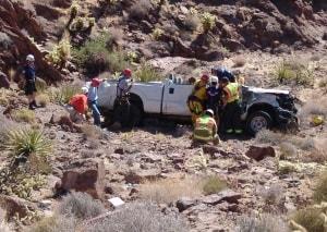 2014 07-02 County Truck  wreck Oatman Hwy (27) a
