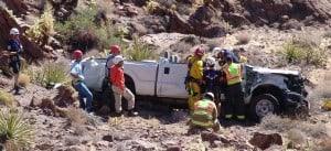2014 07-02 County Truck  wreck Oatman Hwy (29) a
