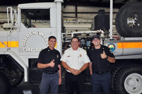 Firefighter-EMTs Jarod  Marks and Hunter Davis